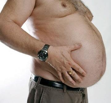 what causes weight gain in men