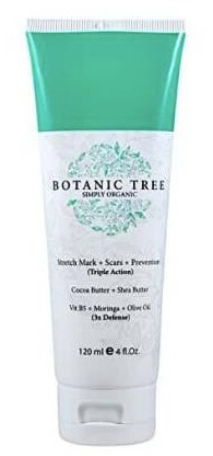 botanic tree stretch mark cream 4 ounce tube